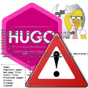 Hugo is deprecated